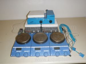 Lot of 6 Heat and Stir Plates