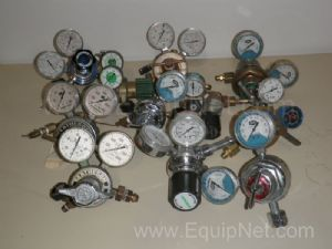Lot of 11 Compressed Gas Regulators