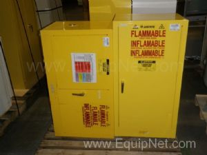Lot of 2 Justrite Flammable Storage Cabinets