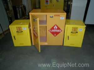 Lot of 3 Small Flammable Storage Cabinets
