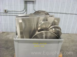 Lot of 2 Bins of Stainless Steel Covers
