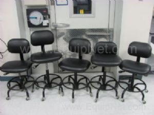 Lot of 5 BioFit Rolling Lab Chairs