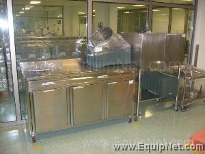 LOT OF (2) STAINLESS STEEL CABINETS AND (2) TABLES