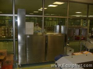 LOT OF (2) STAINLESS STEEL CABINETS