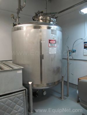 Precision Stainless 750 Gallon Single Wall USP Water Storage Tank - Laboratory Water Loop