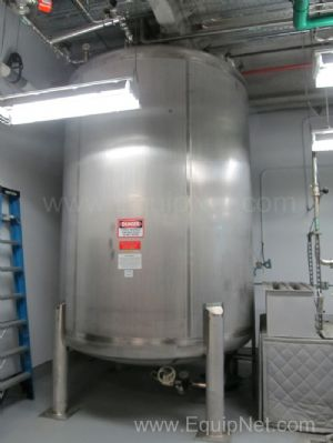 Precision Stainless 3000 Gallon Single Wall USP Water Storage Tank - Manufacturing Water Loop