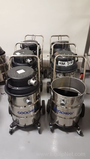 Lot of 6 Goodway Industrial Vacuum Cleaners