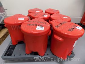 Lot of 7 Eagle Alcohol Waste Containers