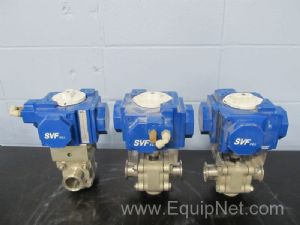 Lot of 3 SVF Flow Controls NH30 Pneumatic Actuated 1.5 Inch Ball Valves