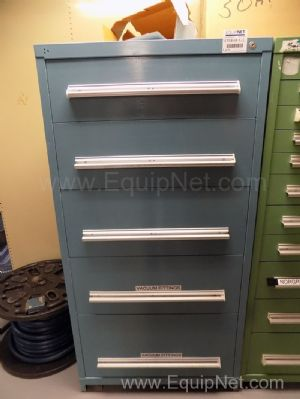 Parts Cabinet with Assorted Sized Belts