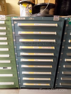 Parts Cabinet with Assorted Sized Tube Fittings