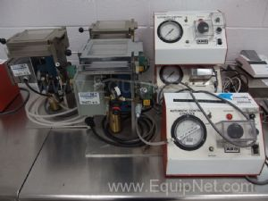 Lot of 3 Density Testers With ARO Automatic Control Consoles