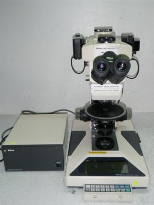 Nikon Microphot-FXA with Power Supply and Two Cameras and Six Objectives and Two Eyepeices