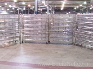 Lot of 4 Lab Products 35 Section Rodent Racks