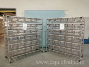 Lot of 2 Lab Products 30 Section Rodent Racks