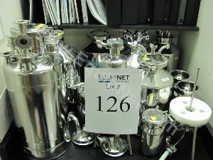 Lot of Assorted Stainless Steel Containers and Pressure Vessels