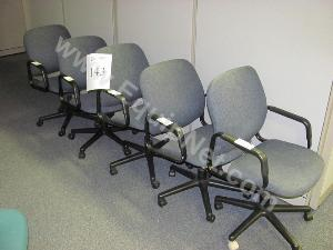 Lot of (5)Rolling Office Chairs