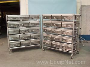 Lot of 2 Lab Products Inc. 30 Section Rodent Racks