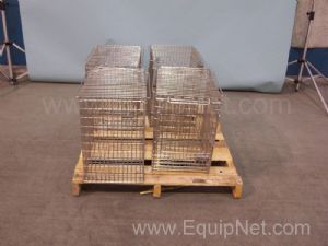 Lot of 4 Harford Metal Products Animal Cages