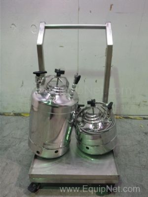 Lot of 2 Alloy Products Corp Stainless Steel Tank