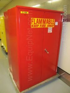 Lot of 2 Protectoseal 60 Gallon Flammable Storage Cabinets