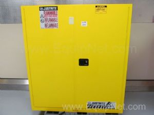 Unused Justrite 110 Gallon Sure Grip EX Upright Flammable Storage Cabinet