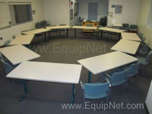 Lot of 12 Training Tables