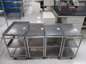 Lot of 4 Lakeside Stainless Steel Carts