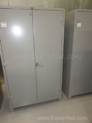 Lot of 2 Lyon Heavy Duty Metal Storage Cabinets with Shelves and Lockable Doors