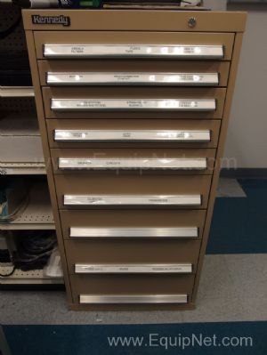 Kennedy Storage Cabinet With Contents of Fuses, Filters, Probes, and More