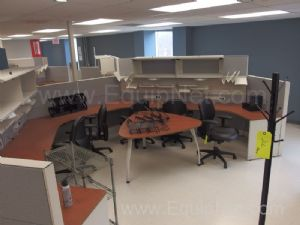 Lot Of Approx 18 Office Cubicles setup in 3 Octagon Groups