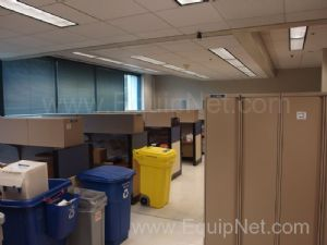 Lot Of Approx 7 Teknion Office Cubicles and 6 Lockers