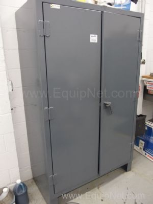 2 Strong Hold Cabinets With Contents of Machine Shop Equipment, Calipers, Gauges and More