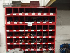 Chromate Parts Cabinet filled with assorted Sanding Disks