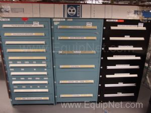 3 Stanley Vidmar/Sentry Cabinets With Contents of Bearings, Casters and More