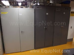 3 Storage Cabinets with contents of HVAC Parts
