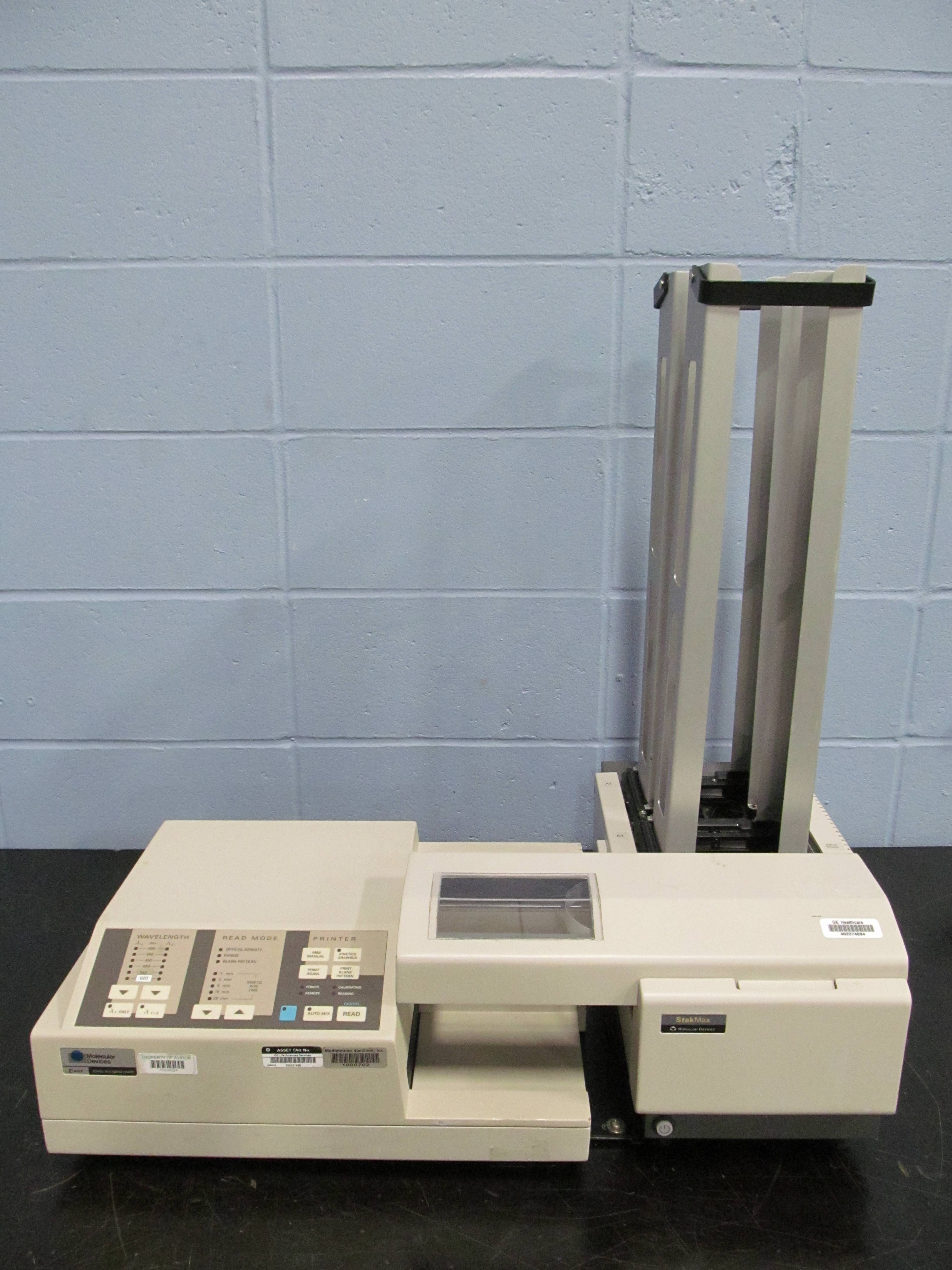 Molecular Devices Vmax Kinetic Microplate Reader With StakMax Microplate Stacker