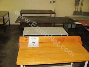 Lot of (10) Assorted Style Work Tables and Benches
