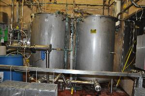 Lot of 2 CIP 300 Gallon Tanks with Accessories