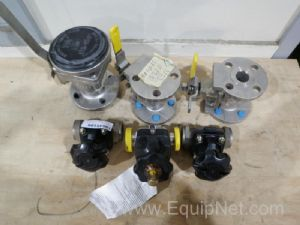 Lot of 6 Assorted Valves
