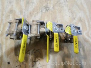 Lot of 4 Apollo Assorted Ball Valves