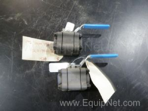 Lot of 2 Jamesbury JB0006E075 Ball Valves