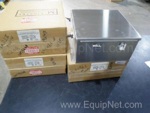 Lot of 4 Stainless Steel Electric Enclosures