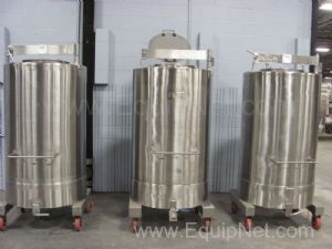 Lot of 3 Stainless Steel  Approximately 183 Gallon Tanks