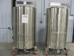 Lot of 2 Stainless Steel Approximately 183 Gallon Tanks