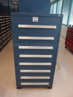 Stanley Vidmar cabinet With Contents Assorted Woodruff Keys, Springs, Cotter Pins, Set Screws, More