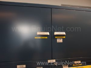 3 Stanley Vidmar Cabinets With Contents of Assorted Video Jet, Krones, MRO Parts and Accessories
