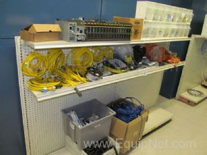 Contents of Shelves with Assorted Cables