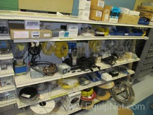 Lot of Various Cables and Contents of Shelves