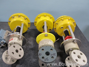 Lot of 3 Frank 1 Inch Actuated Ball Valves